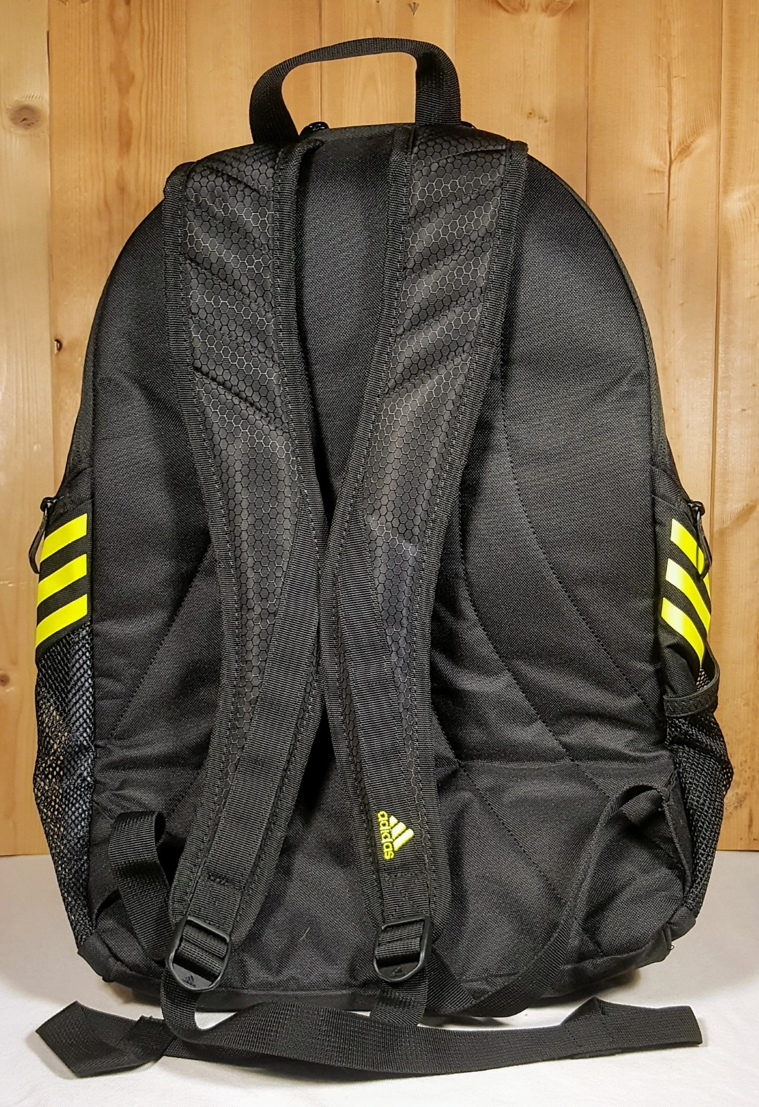 09c122407842 Adidas Soccer Estadio Team Backpack IV Black w  Navy and Yellow ...