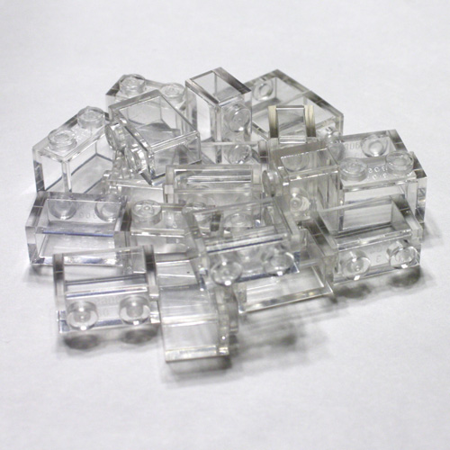 4x rock crystal cristal jewel diamant transparent trans clear 30153 NEUF Lego